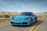 2018 Porsche 718 Cayman S in Miami Blue - Driving Front Left View