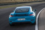 2018 Porsche 718 Cayman GTS in Miami Blue - Driving Rear View