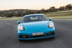2018 Porsche 718 Cayman GTS in Miami Blue - Driving Frontal View