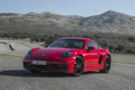 2018 Porsche 718 Cayman GTS in Carmine Red - Static Front Left Three-quarter View