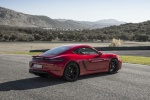 2018 Porsche 718 Cayman GTS in Carmine Red - Static Rear Right Three-quarter View