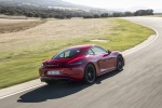 2018 Porsche 718 Cayman GTS in Carmine Red - Driving Rear Right View