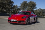 2018 Porsche 718 Cayman GTS in Carmine Red - Driving Front Left View