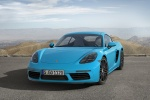 2018 Porsche 718 Cayman S in Miami Blue - Static Front Left View