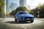 2015 Porsche Macan S in Dark Blue Metallic - Driving Front Right View