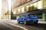 2015 Porsche Macan S in Dark Blue Metallic - Driving Rear Left View
