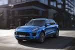 2016 Porsche Macan S in Dark Blue Metallic - Driving Front Left Three-quarter View