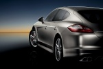 2010 Porsche Panamera Turbo in GT Silver Metallic - Static Rear Left View