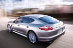2011 Porsche Panamera V6 in GT Silver Metallic - Driving Rear Left Three-quarter View