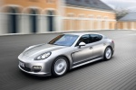 2012 Porsche Panamera in GT Silver Metallic - Static Front Left Three-quarter View