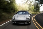 2014 Porsche Panamera 4S in GT Silver Metallic - Driving Frontal View