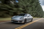 2014 Porsche Panamera 4S in GT Silver Metallic - Driving Front Left Three-quarter View