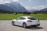 2014 Porsche Panamera S e-Hybrid in White - Static Rear Left Three-quarter View