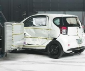 2015 Scion iQ IIHS Side Impact Crash Test Picture