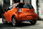 2015 Scion iQ in Hot Lava - Static Rear Left Three-quarter View