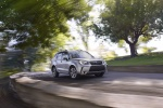 2018 Subaru Forester in Ice Silver Metallic - Driving Front Right Three-quarter View