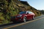 2018 Subaru Legacy 3.6R in Crimson Red - Driving Front Left Three-quarter View