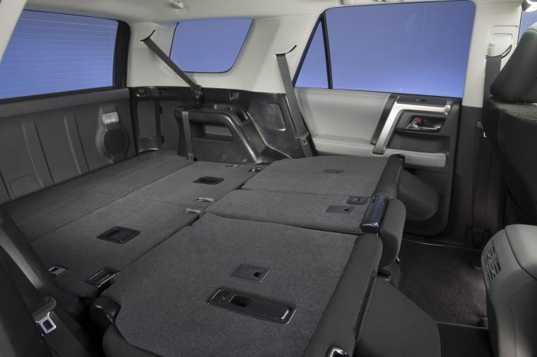 2012 toyota 4runner sr5 rear seats folded in black color picture image. Black Bedroom Furniture Sets. Home Design Ideas