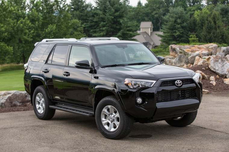 2016 toyota 4runner sr5 in midnight black metallic color static front right view picture image. Black Bedroom Furniture Sets. Home Design Ideas