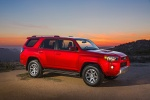 Picture of a 2016 Toyota 4Runner Trail in Barcelona Red Metallic from a front right three-quarter perspective