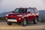 Picture of a 2016 Toyota 4Runner Trail in Barcelona Red Metallic from a front left three-quarter perspective