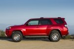Picture of a 2016 Toyota 4Runner Trail in Barcelona Red Metallic from a left side perspective