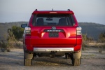 Picture of a 2016 Toyota 4Runner Trail in Barcelona Red Metallic from a rear perspective