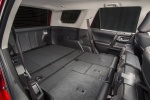 Picture of a 2017 Toyota 4Runner TRD Off Road's Rear Seats Folded in Black