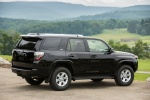 Picture of a 2017 Toyota 4Runner SR5 in Midnight Black Metallic from a rear right three-quarter perspective