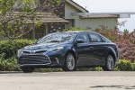 2017 Toyota Avalon Limited in Parisian Night Pearl - Driving Front Left Three-quarter View