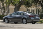 2018 Toyota Avalon Hybrid Limited in Magnetic Gray Metallic - Driving Rear Left Three-quarter View