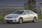 2010 Toyota Camry Hybrid in Classic Silver Metallic - Static Front Three-quarter View