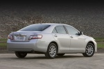 2010 Toyota Camry Hybrid in Classic Silver Metallic - Static Rear Three-quarter View