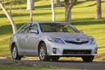 2010 Toyota Camry Hybrid in Classic Silver Metallic - Driving Front Three-quarter View