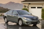 2010 Toyota Camry LE in Magnetic Gray Metallic - Static Front Three-quarter View