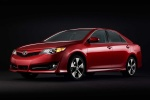 2012 Toyota Camry SE in Barcelona Red Metallic - Static Front Three-quarter View