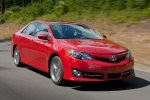 2012 Toyota Camry SE in Barcelona Red Metallic - Driving Front Right View
