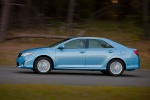 2012 Toyota Camry Hybrid XLE in Clearwater Blue Metallic - Driving Side View