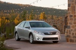 2012 Toyota Camry XLE in Classic Silver Metallic - Static Front Three-quarter View