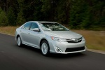 2012 Toyota Camry XLE in Classic Silver Metallic - Driving Front Three-quarter View