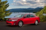2014 Toyota Camry XLE in Barcelona Red Metallic - Static Front Three-quarter View