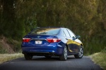 2015 Toyota Camry Hybrid SE in Blue Crush Metallic - Status Rear Right View