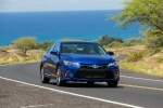 2015 Toyota Camry Hybrid SE in Blue Crush Metallic - Driving Front Right View