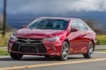 2017 Toyota Camry XSE in Ruby Flare Pearl - Driving Front Left View