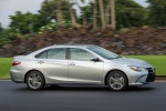 2017 Toyota Camry SE in Celestial Silver Metallic - Driving Front Right Three-quarter View