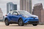 Picture of a 2018 Toyota C-HR in Blue Eclipse Metallic from a front right three-quarter perspective