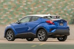 Picture of a 2018 Toyota C-HR in Blue Eclipse Metallic from a rear left three-quarter perspective