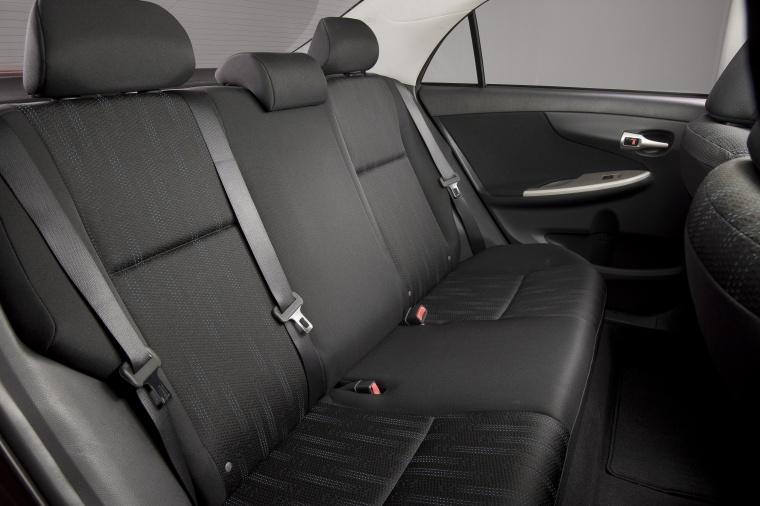 2012 Toyota Corolla S Rear Seats Picture