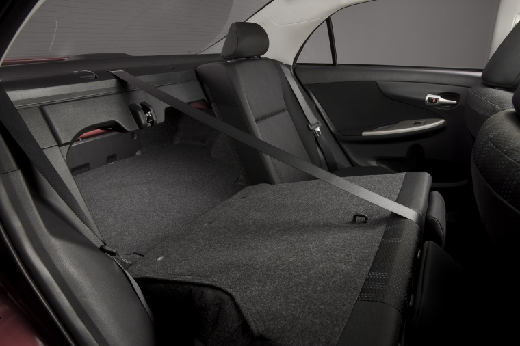 2012 Toyota Corolla S Rear Seats Folded Picture