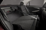 Picture of 2012 Toyota Corolla S Rear Seats Folded in Dark Charcoal